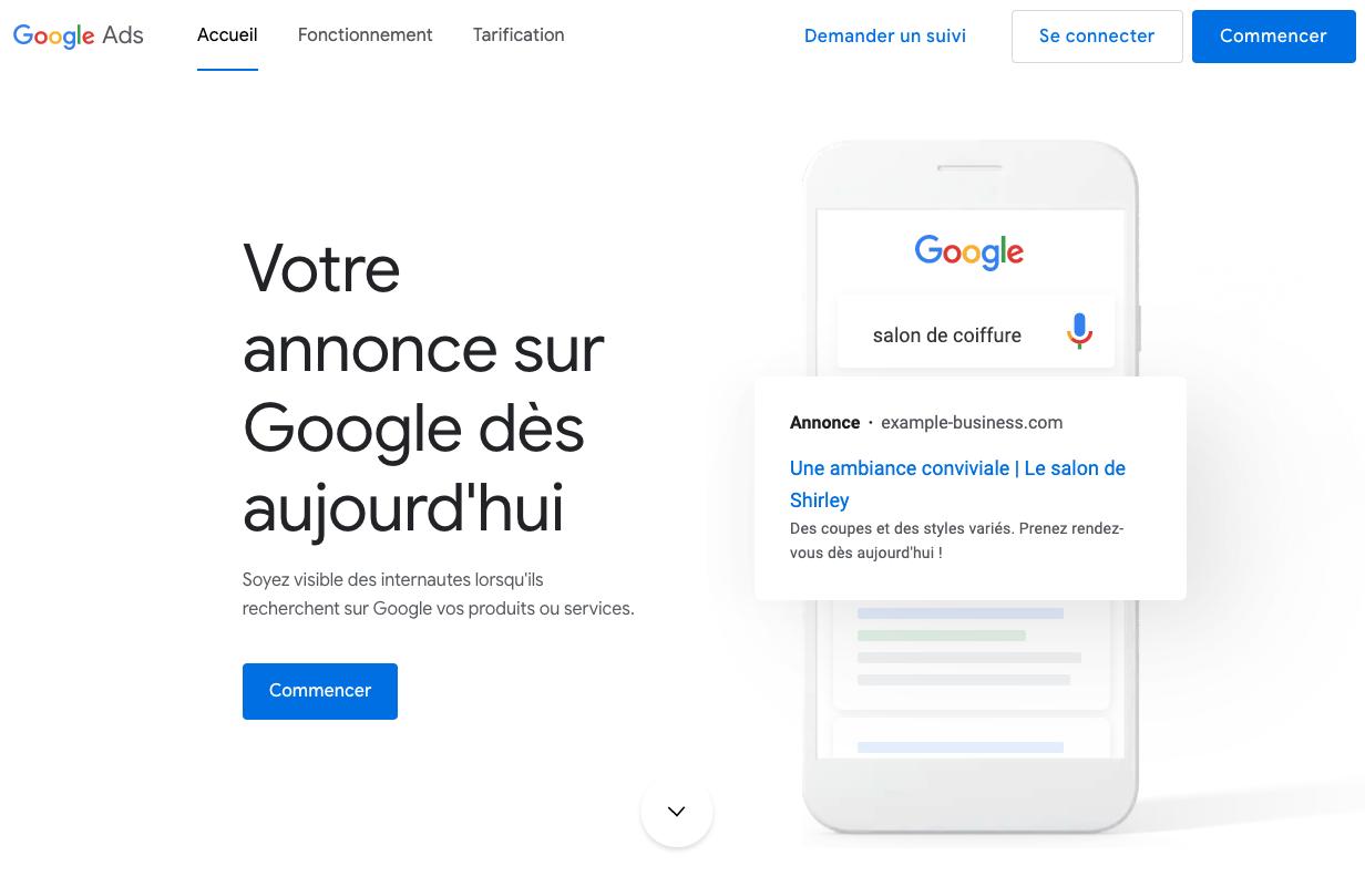 Google Ads pour entrepreneurs paysagistes