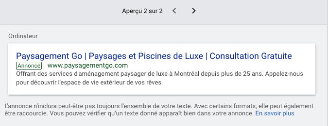 Google Ads Un autre Aperçu